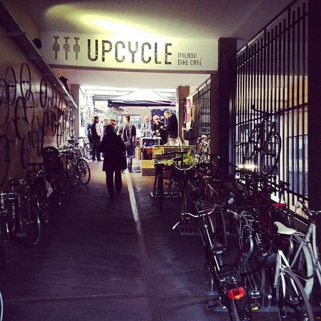 "Photo of Upcycle Milano Bike Cafe  by <a href=""/members/profile/community"">community</a> <br/>Outside view <br/> May 31, 2014  - <a href='/contact/abuse/image/45813/71158'>Report</a>"