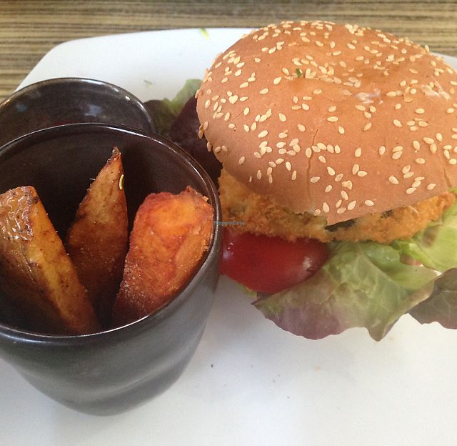 """Photo of The Green Garden  by <a href=""""/members/profile/EIIie"""">EIIie</a> <br/>Vegan Burger <br/> July 13, 2017  - <a href='/contact/abuse/image/45824/279988'>Report</a>"""