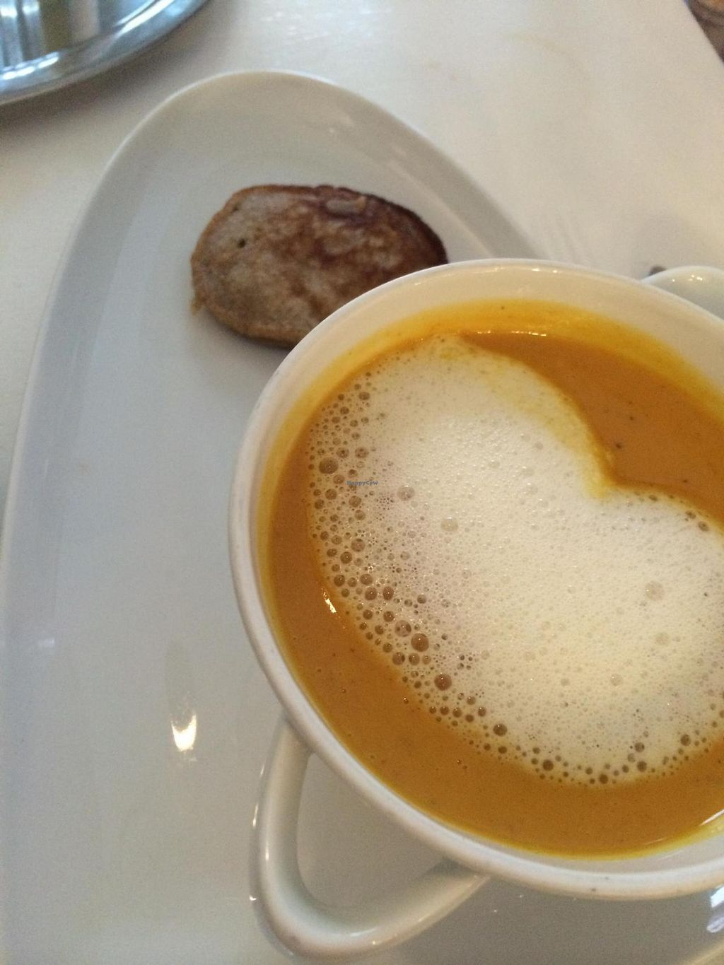 """Photo of The Green Garden  by <a href=""""/members/profile/JazzyCow"""">JazzyCow</a> <br/>African peanut soup with a banana pancake -- so delicious!  <br/> August 10, 2014  - <a href='/contact/abuse/image/45824/76613'>Report</a>"""