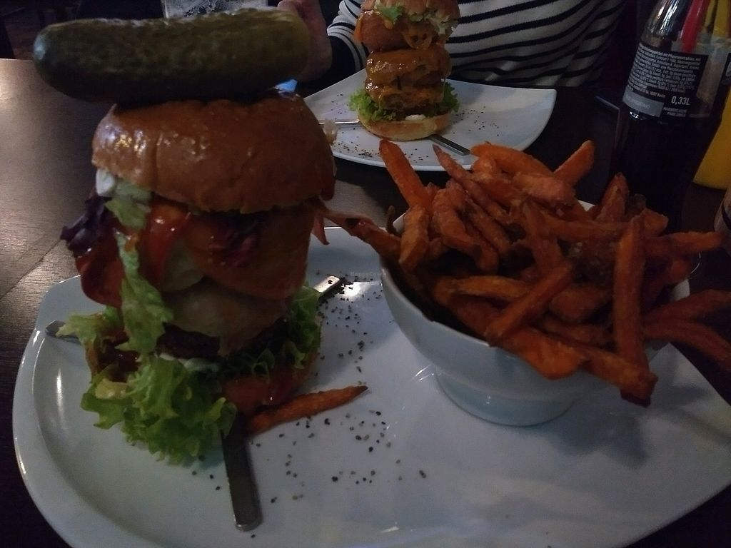 """Photo of Lily Burger  by <a href=""""/members/profile/JamesTumber"""">JamesTumber</a> <br/>Captain Jack Sparrow vegan burger <br/> April 2, 2018  - <a href='/contact/abuse/image/45852/379964'>Report</a>"""