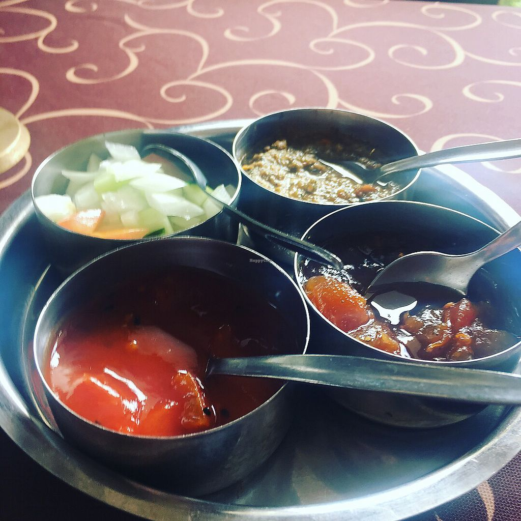 """Photo of Sabor da India  by <a href=""""/members/profile/Jill_foody_veg"""">Jill_foody_veg</a> <br/>The top right was super spicy and delicious.  <br/> September 12, 2017  - <a href='/contact/abuse/image/45854/303646'>Report</a>"""