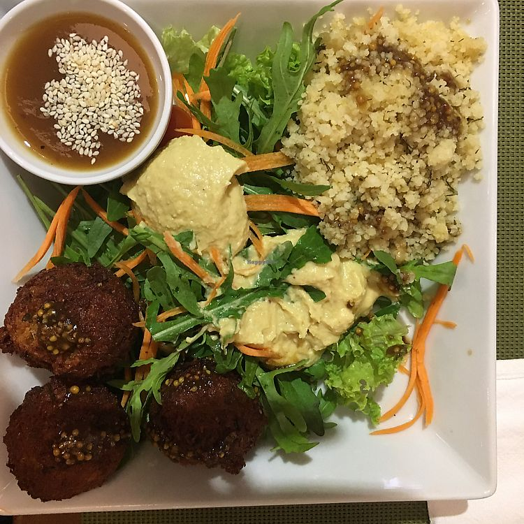 """Photo of Green  by <a href=""""/members/profile/ElmiraDewes"""">ElmiraDewes</a> <br/>very tasty felafel dish  <br/> June 15, 2017  - <a href='/contact/abuse/image/45876/269461'>Report</a>"""