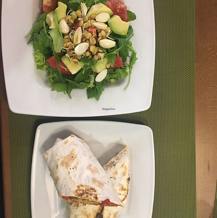 """Photo of Green  by <a href=""""/members/profile/ElmiraDewes"""">ElmiraDewes</a> <br/>it was so tasty luck. avocado salad and falafel rolls  <br/> June 16, 2017  - <a href='/contact/abuse/image/45876/269688'>Report</a>"""