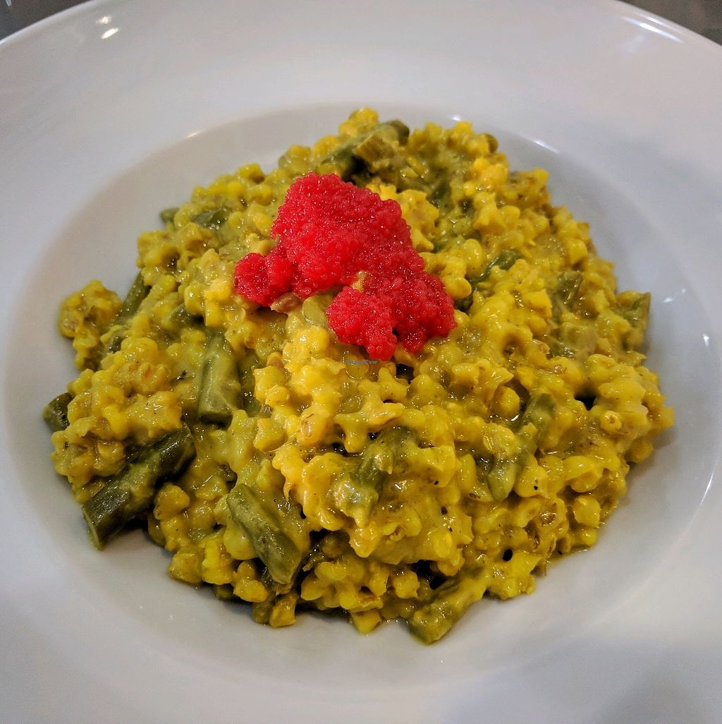 """Photo of Tapaste  by <a href=""""/members/profile/swissglobetrotter"""">swissglobetrotter</a> <br/>barley risotto with plenty of asparagus and a spoonful of caviar <br/> December 29, 2017  - <a href='/contact/abuse/image/45882/340464'>Report</a>"""