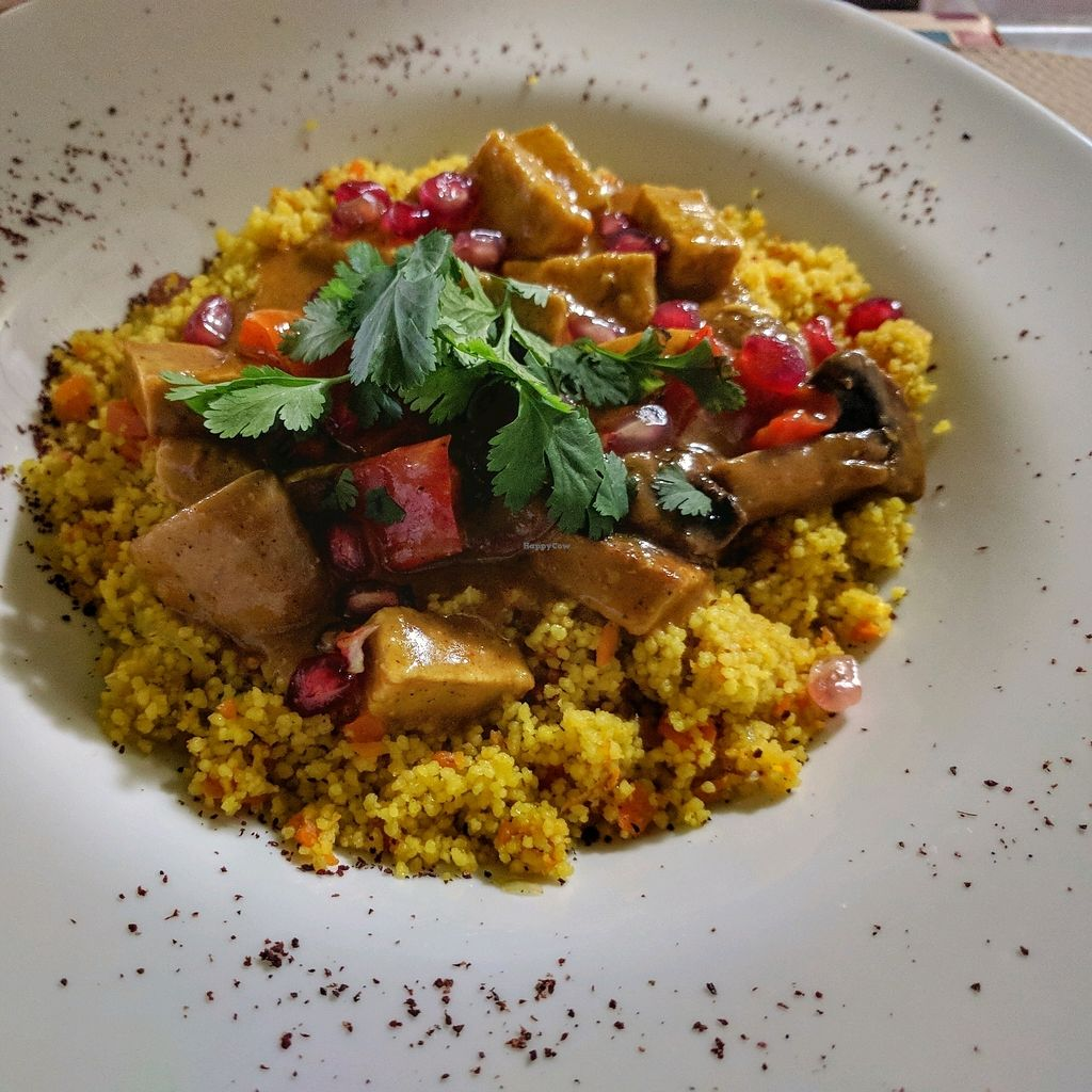"""Photo of Tapaste  by <a href=""""/members/profile/swissglobetrotter"""">swissglobetrotter</a> <br/>cous cous with pomegranate and tofu <br/> December 29, 2017  - <a href='/contact/abuse/image/45882/340480'>Report</a>"""