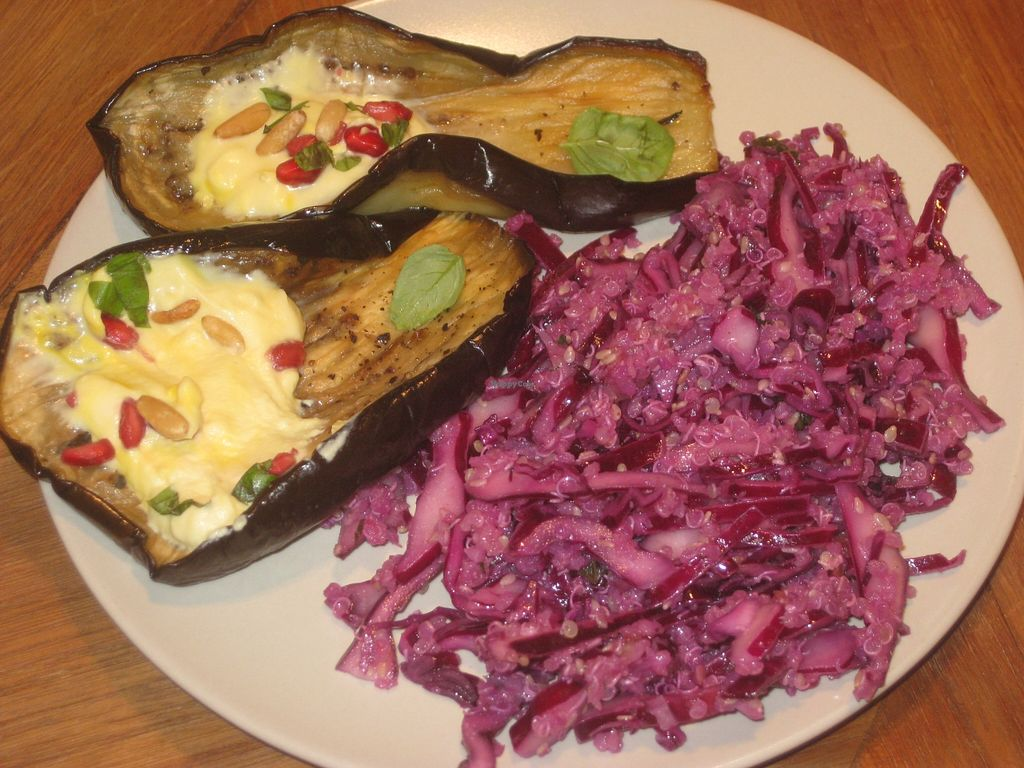 """Photo of Deli Bluem  by <a href=""""/members/profile/jennyc32"""">jennyc32</a> <br/>Marrakesh breakfast:  aubergine with yoghurt <br/> November 2, 2015  - <a href='/contact/abuse/image/45934/123532'>Report</a>"""