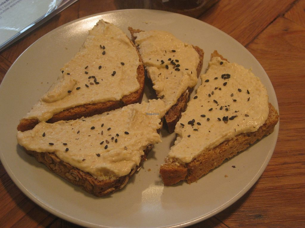 """Photo of Deli Bluem  by <a href=""""/members/profile/jennyc32"""">jennyc32</a> <br/>Marrakesh breakfast:  sourdough bread with hummus <br/> November 2, 2015  - <a href='/contact/abuse/image/45934/123533'>Report</a>"""