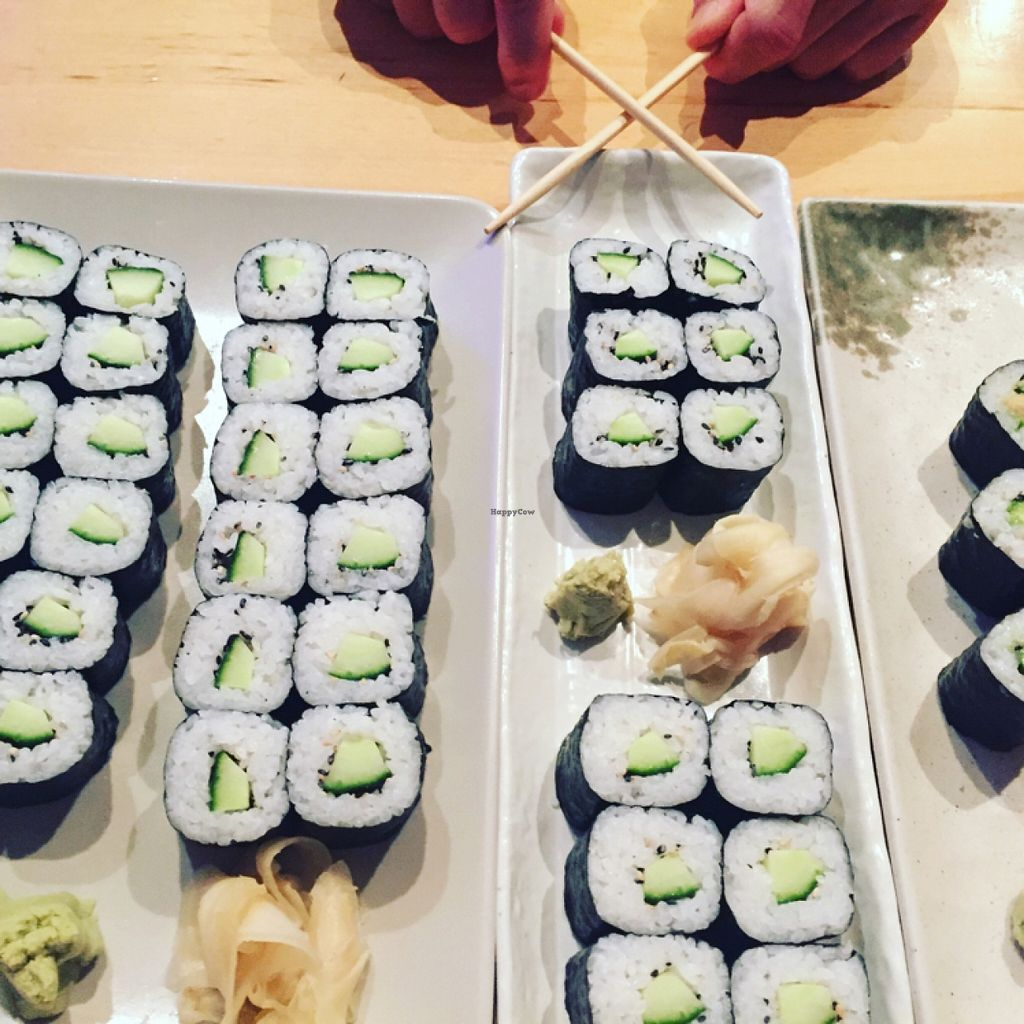 "Photo of Feng Sushi - Borough Market  by <a href=""/members/profile/LinaBrooks"">LinaBrooks</a> <br/>Cucumber and Avocado Maki <br/> January 13, 2016  - <a href='/contact/abuse/image/45935/132251'>Report</a>"