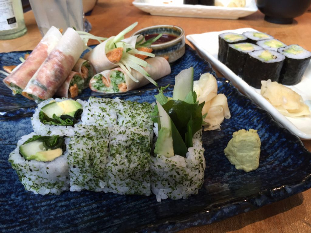 "Photo of Feng Sushi - Borough Market  by <a href=""/members/profile/MariaBorgensgaard"">MariaBorgensgaard</a> <br/>mock duck and green menu + maki (maki's are GREAT!!)  <br/> June 27, 2016  - <a href='/contact/abuse/image/45935/156448'>Report</a>"