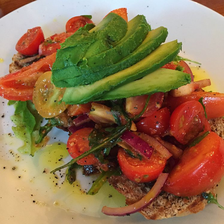 """Photo of The Foodstory Cafe  by <a href=""""/members/profile/SaraFitz"""">SaraFitz</a> <br/>avocado and tomatoes on rye bread  <br/> October 16, 2016  - <a href='/contact/abuse/image/45962/182369'>Report</a>"""