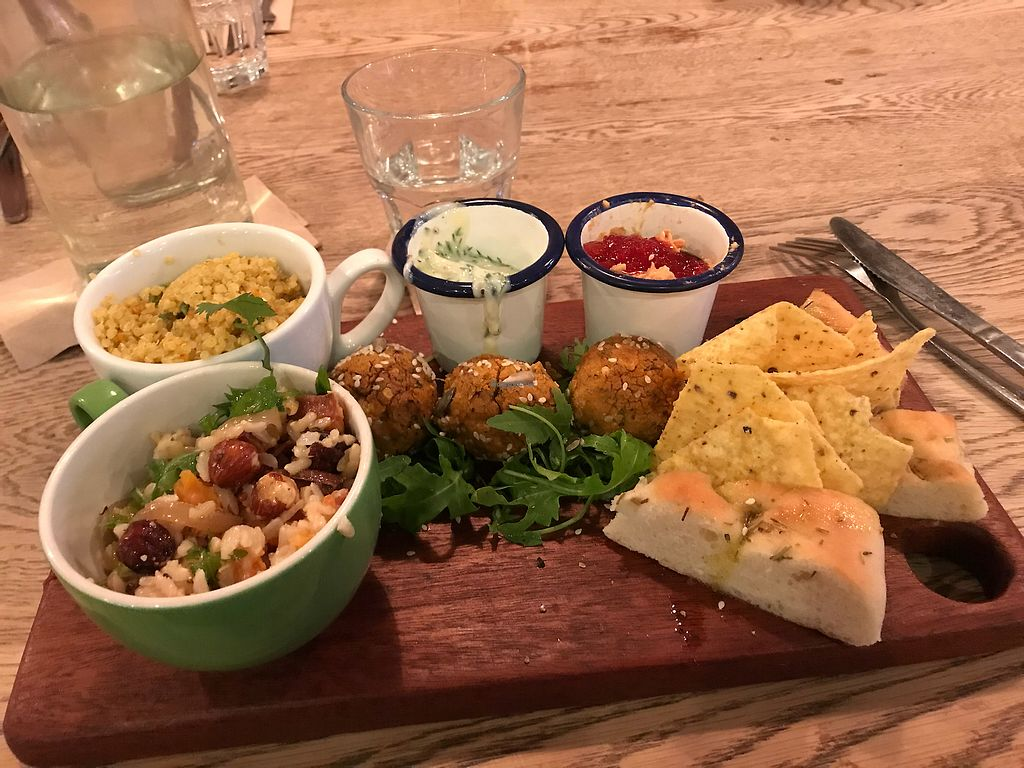 """Photo of The Foodstory Cafe  by <a href=""""/members/profile/SofiaWigren"""">SofiaWigren</a> <br/>Falafel platter <br/> November 3, 2017  - <a href='/contact/abuse/image/45962/321357'>Report</a>"""