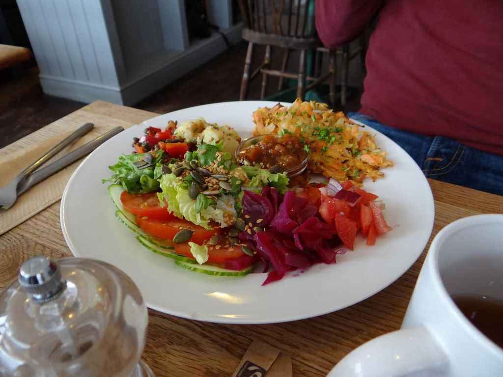 """Photo of CLOSED: Laportes  by <a href=""""/members/profile/KB"""">KB</a> <br/>Vegan fritters with salad <br/> March 30, 2014  - <a href='/contact/abuse/image/45987/66745'>Report</a>"""