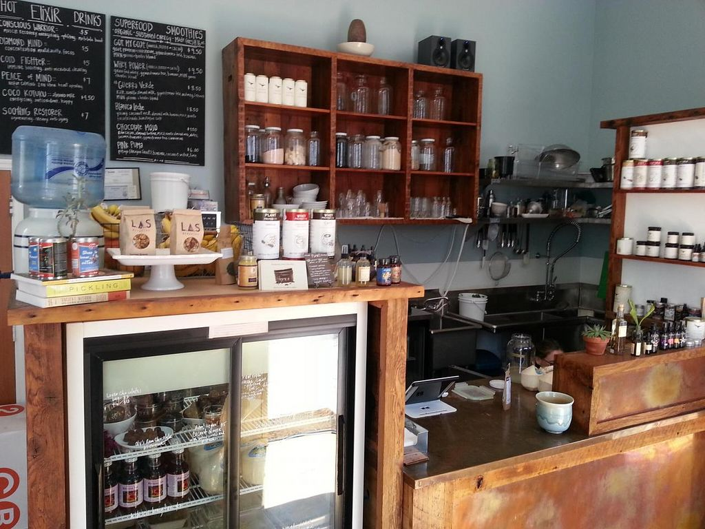 """Photo of Kotuku Elixir Bar and Superfood Store  by <a href=""""/members/profile/eric"""">eric</a> <br/>juice bar <br/> June 21, 2014  - <a href='/contact/abuse/image/45989/72448'>Report</a>"""