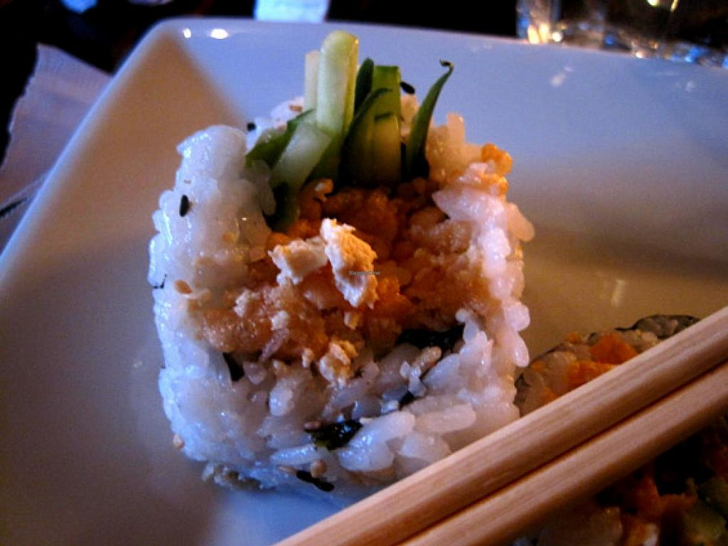 """Photo of Sata Sushi  by <a href=""""/members/profile/Babette"""">Babette</a> <br/>The Flocon futomaki, one of my favorite : tofu, coconut, avocado, cucumber, rice crispy, spicy mayo <br/> May 25, 2015  - <a href='/contact/abuse/image/45990/103373'>Report</a>"""