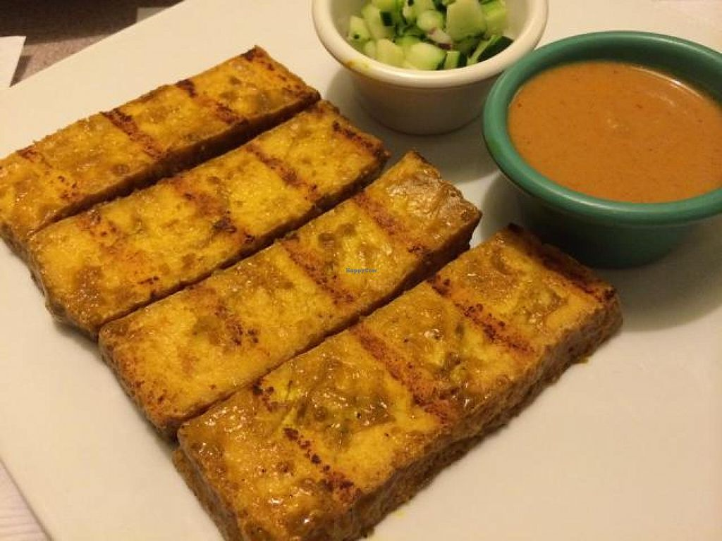 "Photo of Singha Thai Restaurant  by <a href=""/members/profile/cha-yen%20monster"">cha-yen monster</a> <br/>Tofu satay <br/> December 6, 2014  - <a href='/contact/abuse/image/45994/87359'>Report</a>"