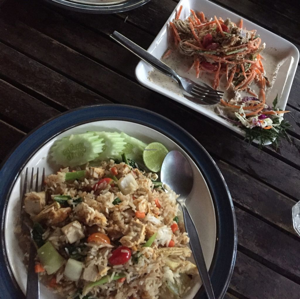 """Photo of Irie Bar and Restaurant  by <a href=""""/members/profile/ppdan"""">ppdan</a> <br/>fried rice, banana flower salad <br/> December 16, 2015  - <a href='/contact/abuse/image/46036/128664'>Report</a>"""