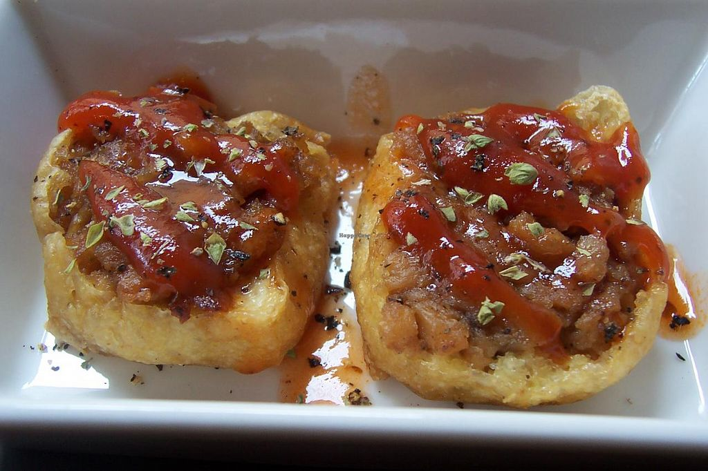 """Photo of Cafe y te Pacifico  by <a href=""""/members/profile/schong2"""">schong2</a> <br/>stuffed tofu with sauce <br/> March 24, 2014  - <a href='/contact/abuse/image/46040/66457'>Report</a>"""