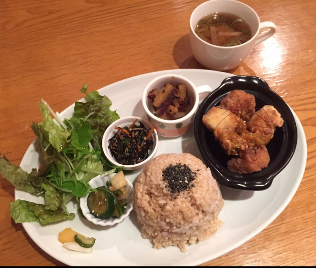 """Photo of CLOSED: From Earth Cafe OHANA  by <a href=""""/members/profile/Kimxula"""">Kimxula</a> <br/>Ohana lunch plate  <br/> April 19, 2016  - <a href='/contact/abuse/image/46043/145361'>Report</a>"""