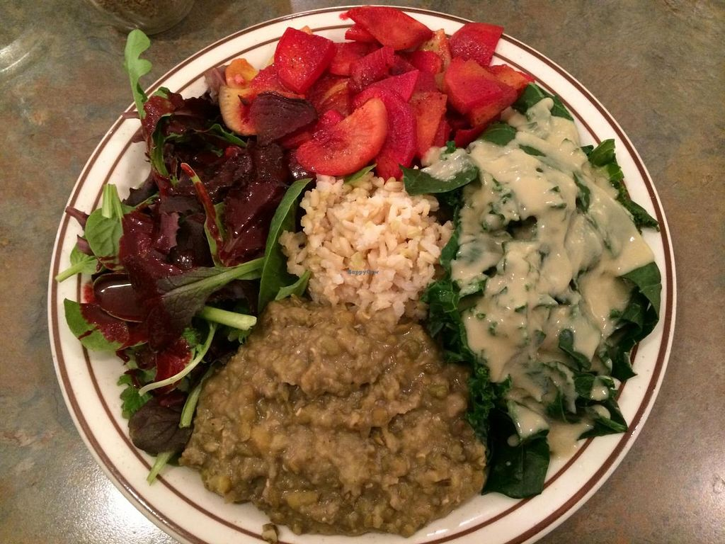 """Photo of Shangri-La Vegan - Linden  by <a href=""""/members/profile/cha-yen%20monster"""">cha-yen monster</a> <br/>Full meal:) <br/> April 25, 2014  - <a href='/contact/abuse/image/4604/68583'>Report</a>"""