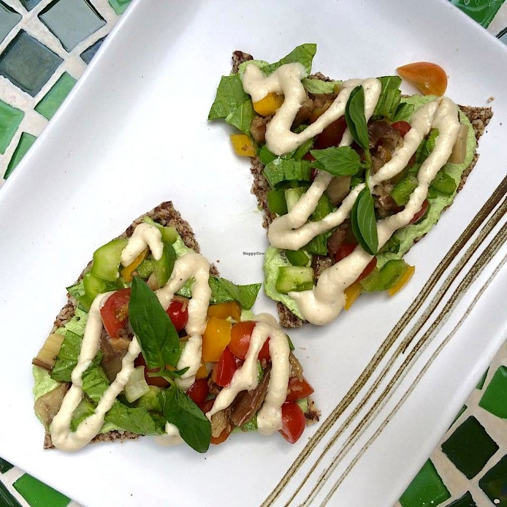 Photo of The Sanctuary  by KelBell <br/>Raw Vegan Pizza with cashew cheese!!! <br/> January 29, 2016  - <a href='/contact/abuse/image/4605/134139'>Report</a>