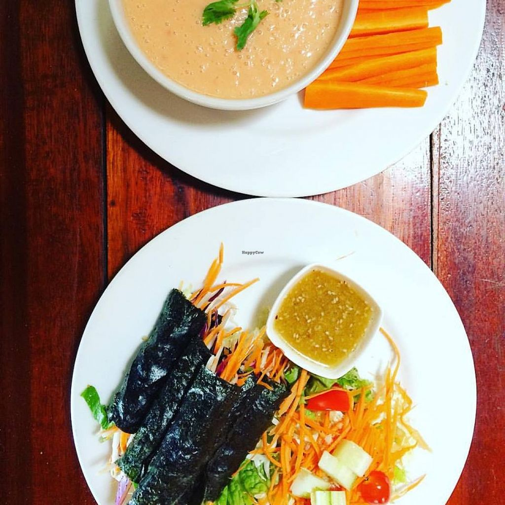 Photo of The Sanctuary  by KelBell <br/>RAw Nori Rolls and Raw coconut soup! <br/> January 29, 2016  - <a href='/contact/abuse/image/4605/134141'>Report</a>