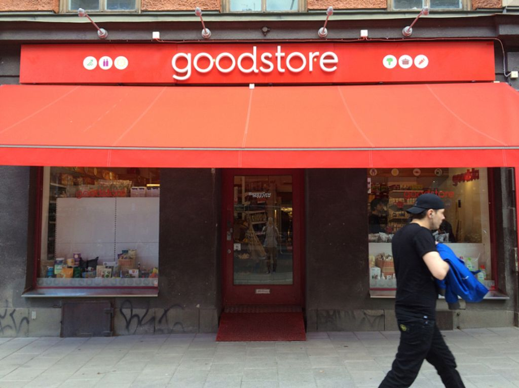 "Photo of Goodstore - Hornsgatan  by <a href=""/members/profile/VeganBoulder"">VeganBoulder</a> <br/>Exterior view <br/> August 2, 2016  - <a href='/contact/abuse/image/46072/164667'>Report</a>"