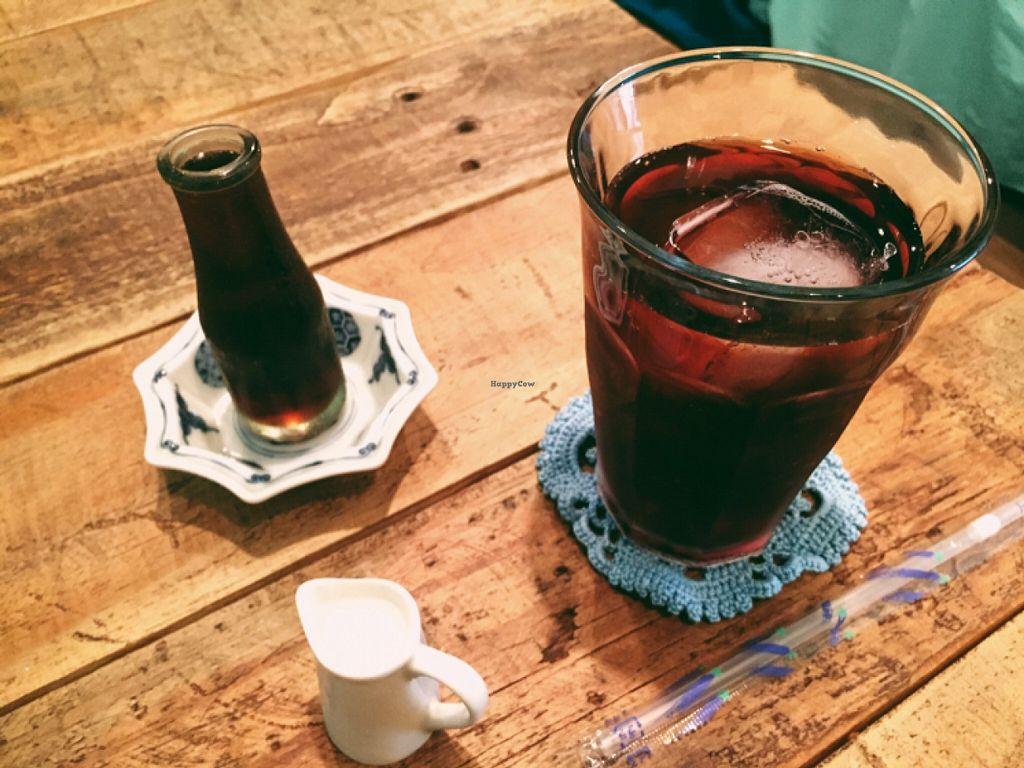 """Photo of Phono Kafe  by <a href=""""/members/profile/Michelleykat"""">Michelleykat</a> <br/>adzuki bean tea with syrup and soymilk  <br/> May 17, 2016  - <a href='/contact/abuse/image/46073/149543'>Report</a>"""