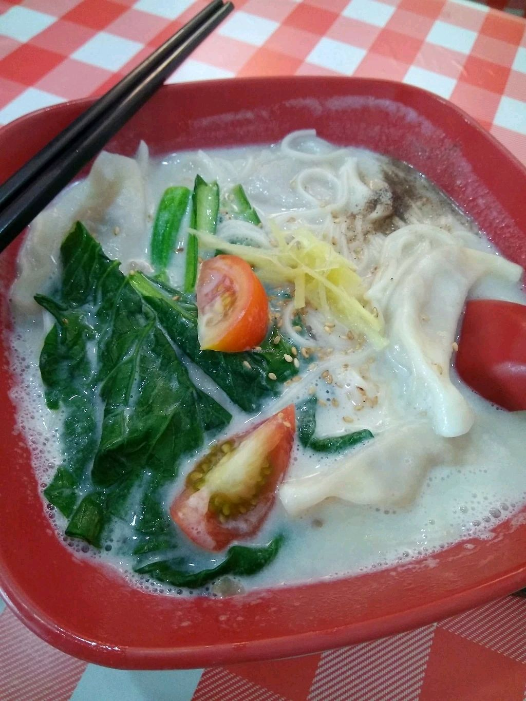 "Photo of O'Bean - Kiosk  by <a href=""/members/profile/AdelOng"">AdelOng</a> <br/>Soya soup dumpling noodle <br/> January 23, 2018  - <a href='/contact/abuse/image/46095/350041'>Report</a>"