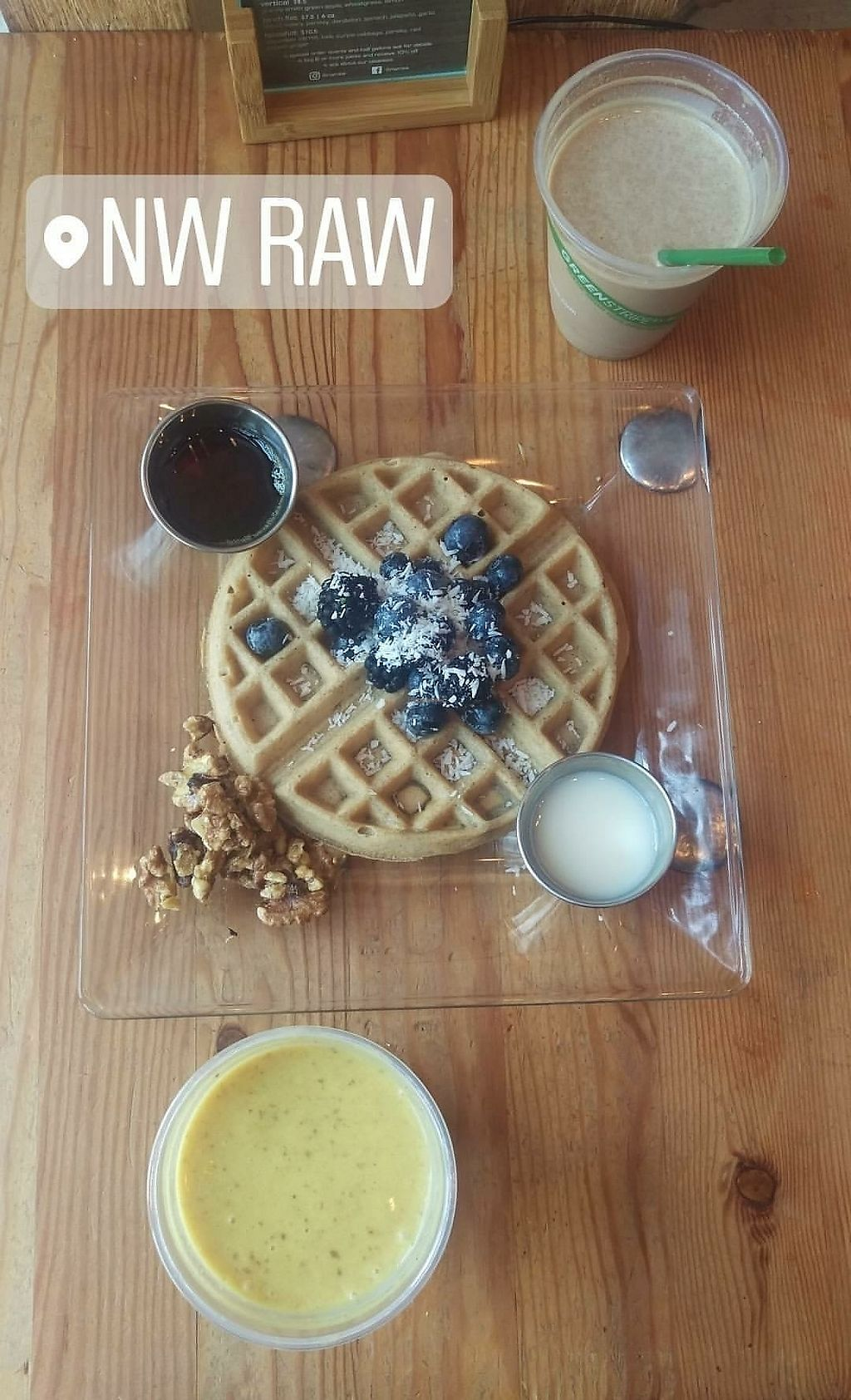 """Photo of NW Raw  by <a href=""""/members/profile/Naturalia"""">Naturalia</a> <br/>waffle and smoothies! <br/> August 27, 2017  - <a href='/contact/abuse/image/46101/297910'>Report</a>"""