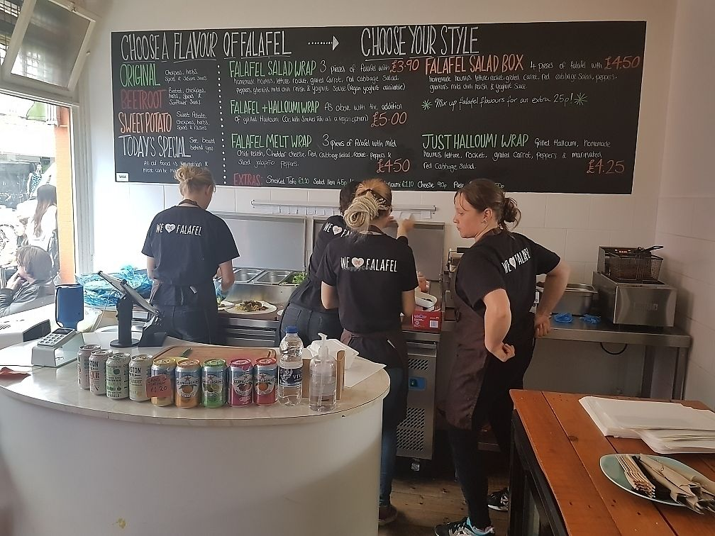 """Photo of We Love Falafel  by <a href=""""/members/profile/CuriousDave"""">CuriousDave</a> <br/>Menu and friendly staff <br/> June 10, 2017  - <a href='/contact/abuse/image/46109/267785'>Report</a>"""
