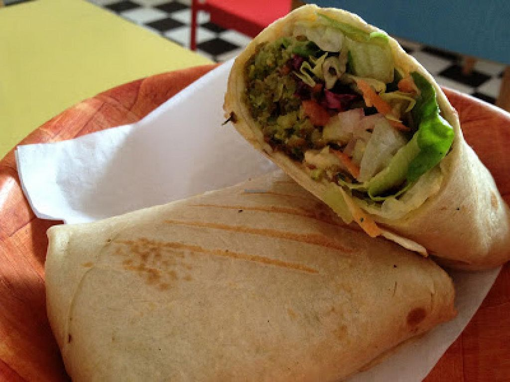 """Photo of We Love Falafel  by <a href=""""/members/profile/jojoinbrighton"""">jojoinbrighton</a> <br/>Falafel Wrap <br/> March 3, 2015  - <a href='/contact/abuse/image/46109/94797'>Report</a>"""