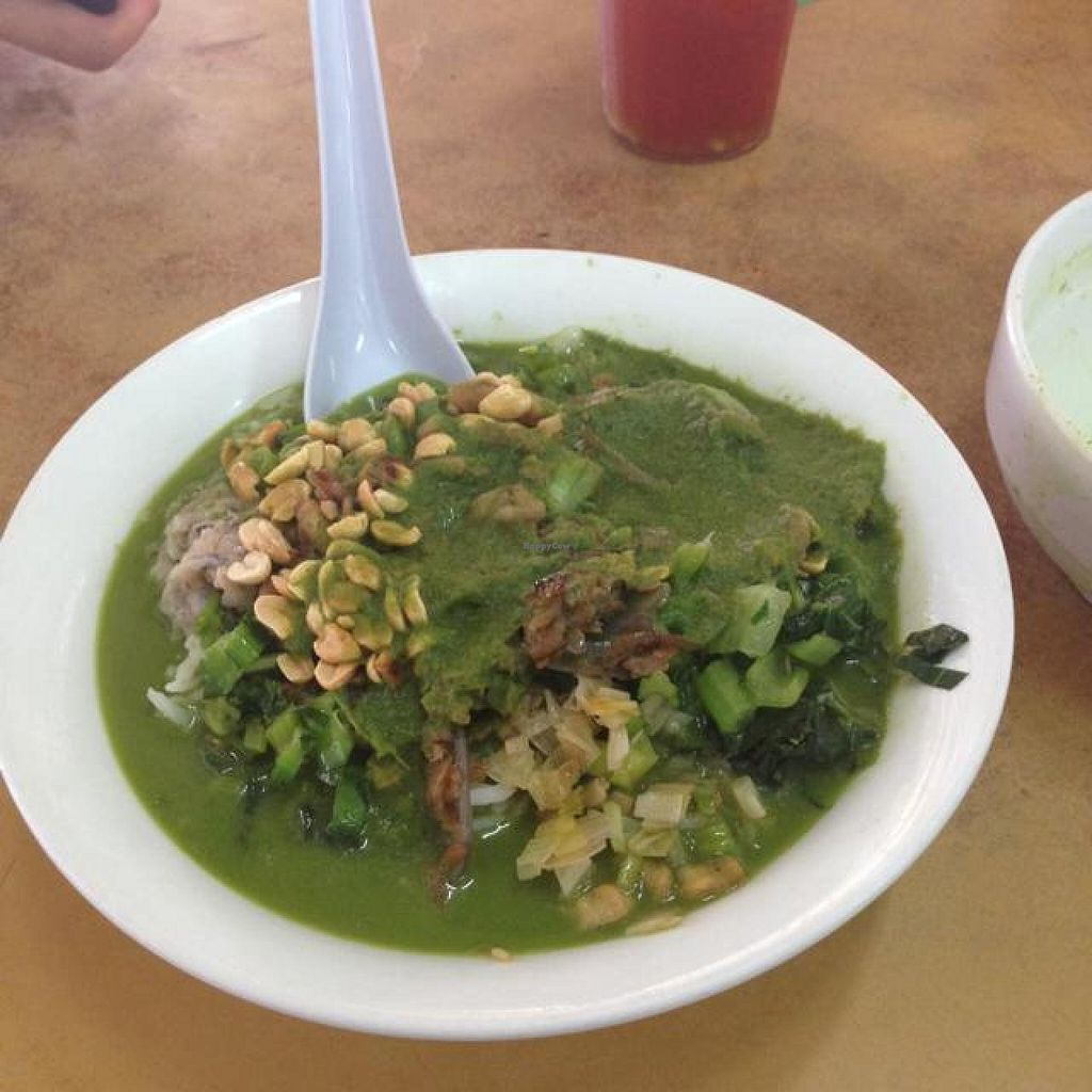 """Photo of PJ Oldtown Foodcourt - Hakka Lui Char Stall  by <a href=""""/members/profile/AndyT"""">AndyT</a> <br/>Hakka Lei Cha ... after mixing rice and soup <br/> April 2, 2014  - <a href='/contact/abuse/image/46118/66903'>Report</a>"""