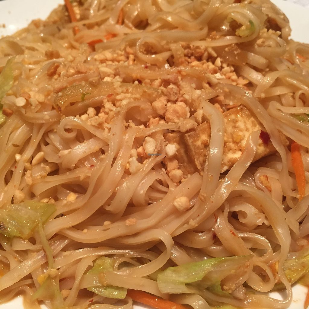 "Photo of Blue Asia  by <a href=""/members/profile/SavoyTruffle"">SavoyTruffle</a> <br/>Pad Thai, with shredded lettuce. Kind of strange that there were no bean sprouts or cilantro <br/> July 22, 2017  - <a href='/contact/abuse/image/46124/283075'>Report</a>"