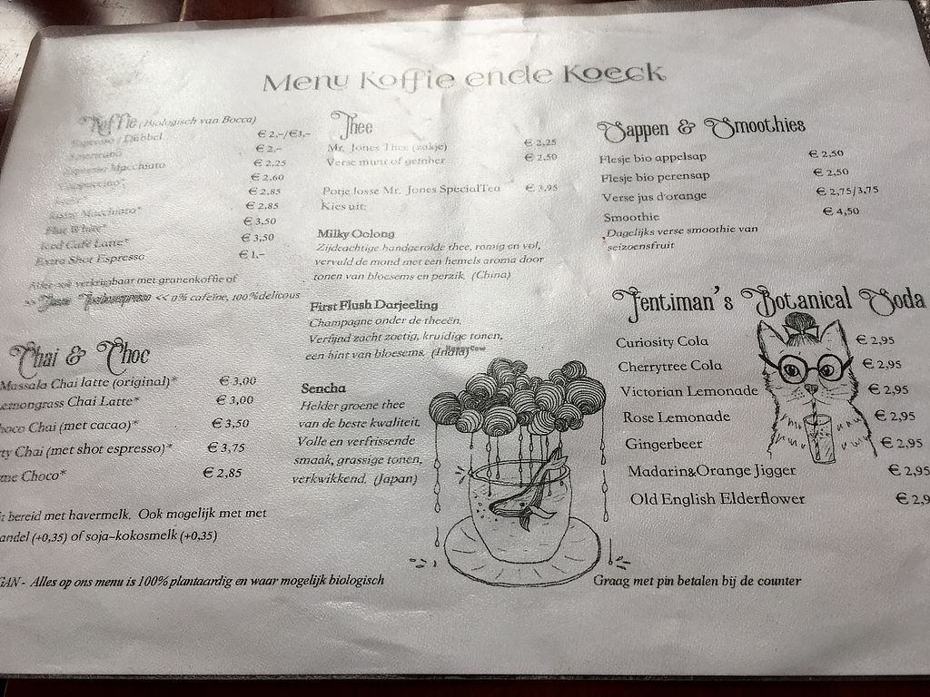 """Photo of Koffie ende Koeck  by <a href=""""/members/profile/vegan%20frog"""">vegan frog</a> <br/>Menu <br/> June 30, 2017  - <a href='/contact/abuse/image/46128/275300'>Report</a>"""