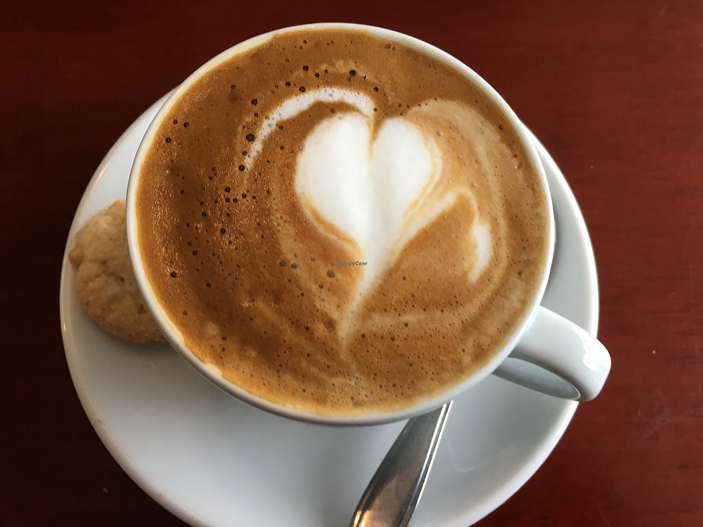 """Photo of Koffie ende Koeck  by <a href=""""/members/profile/kiddoc330"""">kiddoc330</a> <br/>Cappuccino with almond milk <br/> July 1, 2017  - <a href='/contact/abuse/image/46128/275576'>Report</a>"""