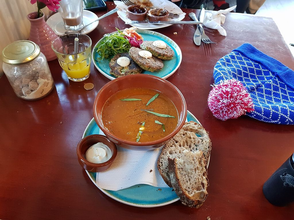 """Photo of Koffie ende Koeck  by <a href=""""/members/profile/Chump"""">Chump</a> <br/>Koffie ende Koeck - seasonal soup and fritters <br/> December 14, 2017  - <a href='/contact/abuse/image/46128/335507'>Report</a>"""