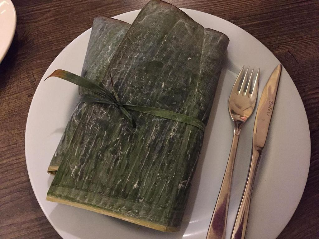 """Photo of 7 Siri - Taste of  Sri Lanka  by <a href=""""/members/profile/happychap77"""">happychap77</a> <br/>Mix of curries and rice wrapped in banana leaves <br/> November 11, 2014  - <a href='/contact/abuse/image/46134/85193'>Report</a>"""