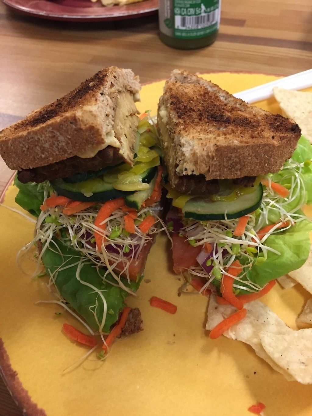 "Photo of Sunflower Natural Food Store and Deli  by <a href=""/members/profile/SFRobbie"">SFRobbie</a> <br/>Overflowing tempeh burger <br/> December 10, 2016  - <a href='/contact/abuse/image/4613/198840'>Report</a>"