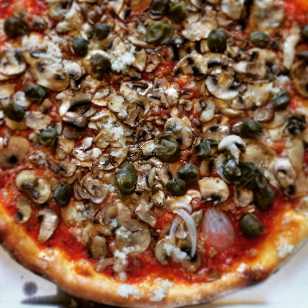 "Photo of Pizzeria Rialto  by <a href=""/members/profile/DietmarFink"">DietmarFink</a> <br/>Pizza Marinara with mushrooms <br/> August 21, 2015  - <a href='/contact/abuse/image/46153/114567'>Report</a>"