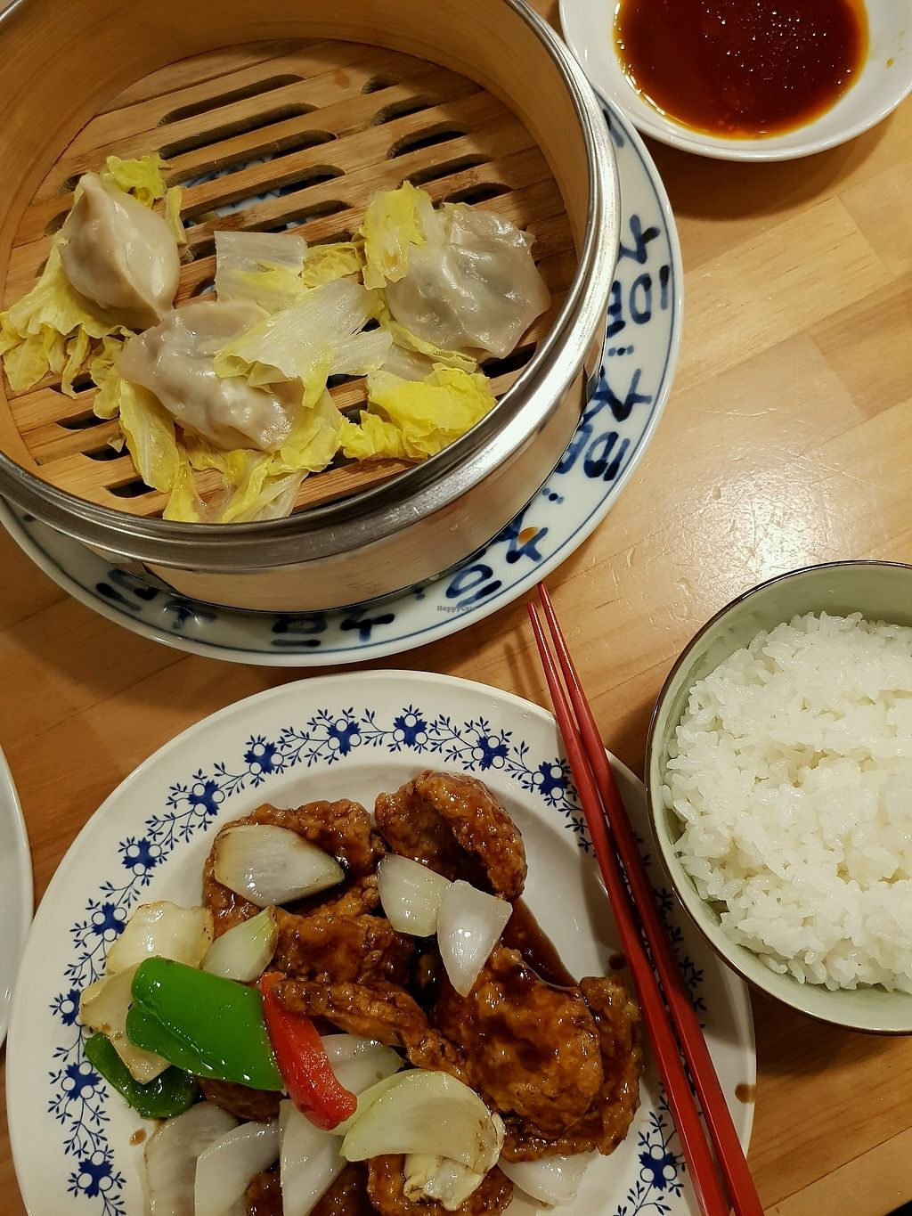 "Photo of Lo Fuo  by <a href=""/members/profile/DebContemprato"">DebContemprato</a> <br/>sweet and sour soy meat & veggie dumplings <br/> April 2, 2018  - <a href='/contact/abuse/image/46161/379828'>Report</a>"