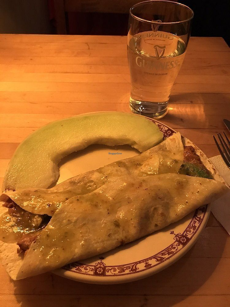 "Photo of Moon and River Cafe  by <a href=""/members/profile/nlevine94"">nlevine94</a> <br/>Vegan enchilada and melon. Delicious <br/> November 11, 2017  - <a href='/contact/abuse/image/4620/324253'>Report</a>"