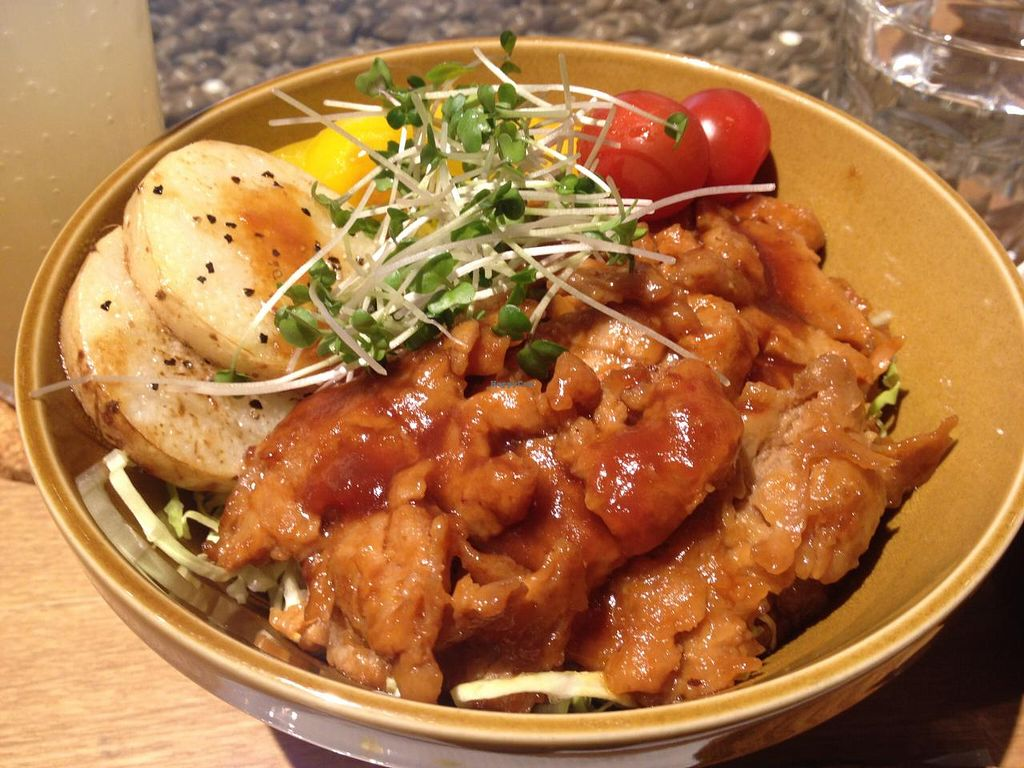 """Photo of LOVE Pacific Cafe  by <a href=""""/members/profile/Kimxula"""">Kimxula</a> <br/>Soy meat & rice bowl <br/> June 14, 2015  - <a href='/contact/abuse/image/46216/105905'>Report</a>"""