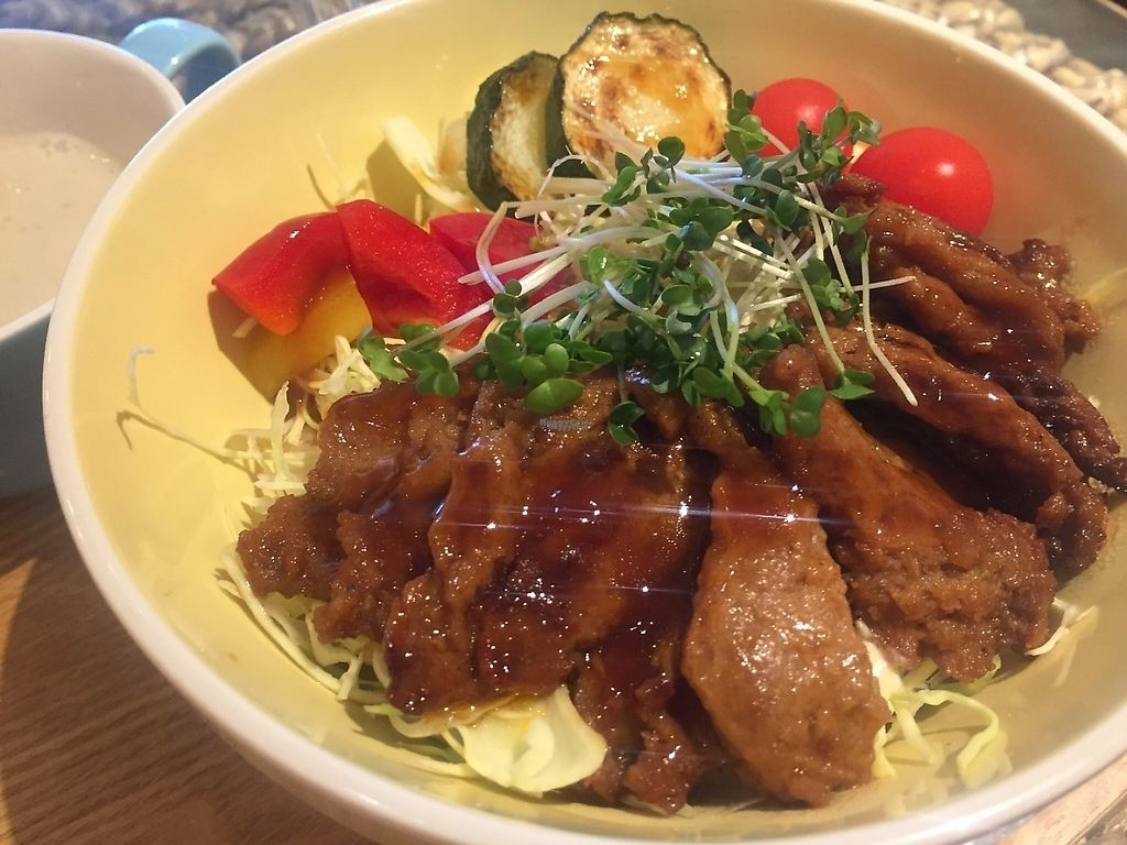 """Photo of LOVE Pacific Cafe  by <a href=""""/members/profile/SamanthaIngridHo"""">SamanthaIngridHo</a> <br/>Rice with teriyaki soy meat <br/> March 17, 2017  - <a href='/contact/abuse/image/46216/237468'>Report</a>"""