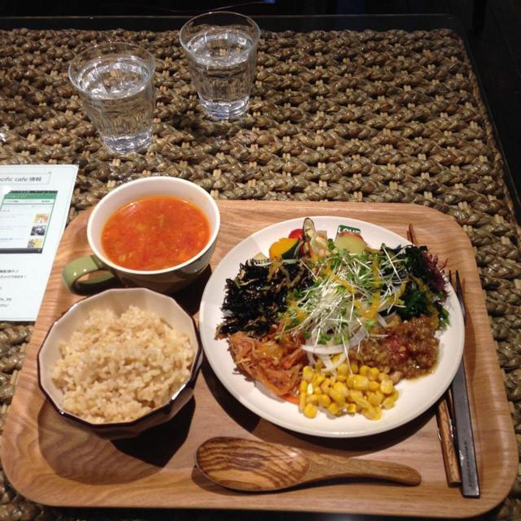 """Photo of LOVE Pacific Cafe  by <a href=""""/members/profile/kat.ross"""">kat.ross</a> <br/>vegetable set lunch with rice  <br/> May 5, 2014  - <a href='/contact/abuse/image/46216/69380'>Report</a>"""