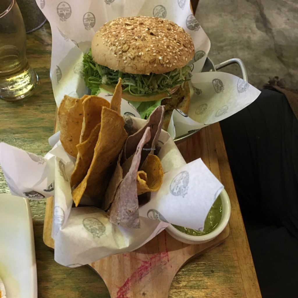 """Photo of Gaia Art and Cafe  by <a href=""""/members/profile/manic-organic"""">manic-organic</a> <br/>Quinoa Burger <br/> October 22, 2015  - <a href='/contact/abuse/image/46224/122153'>Report</a>"""