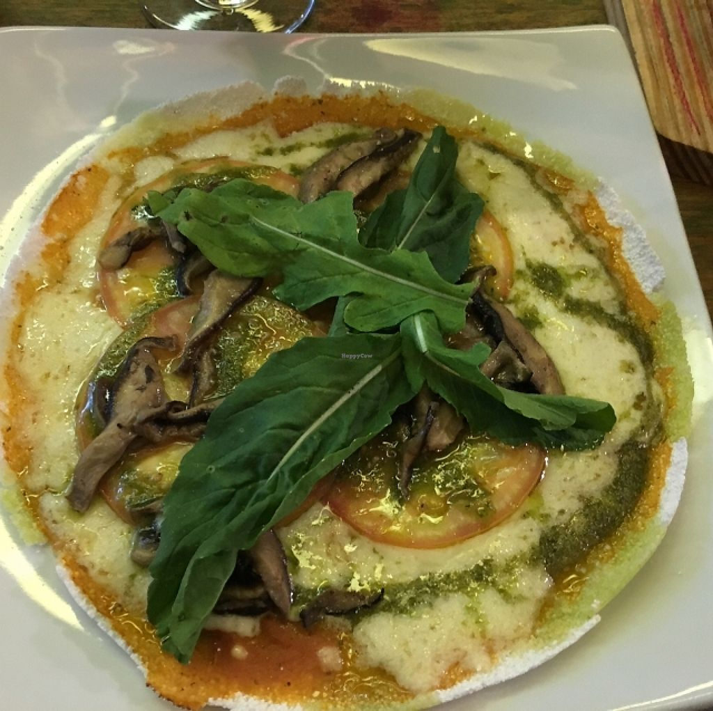 """Photo of Gaia Art and Cafe  by <a href=""""/members/profile/manic-organic"""">manic-organic</a> <br/>Pizzioca (Tapioca Pizza - Gluten free) <br/> October 22, 2015  - <a href='/contact/abuse/image/46224/354830'>Report</a>"""
