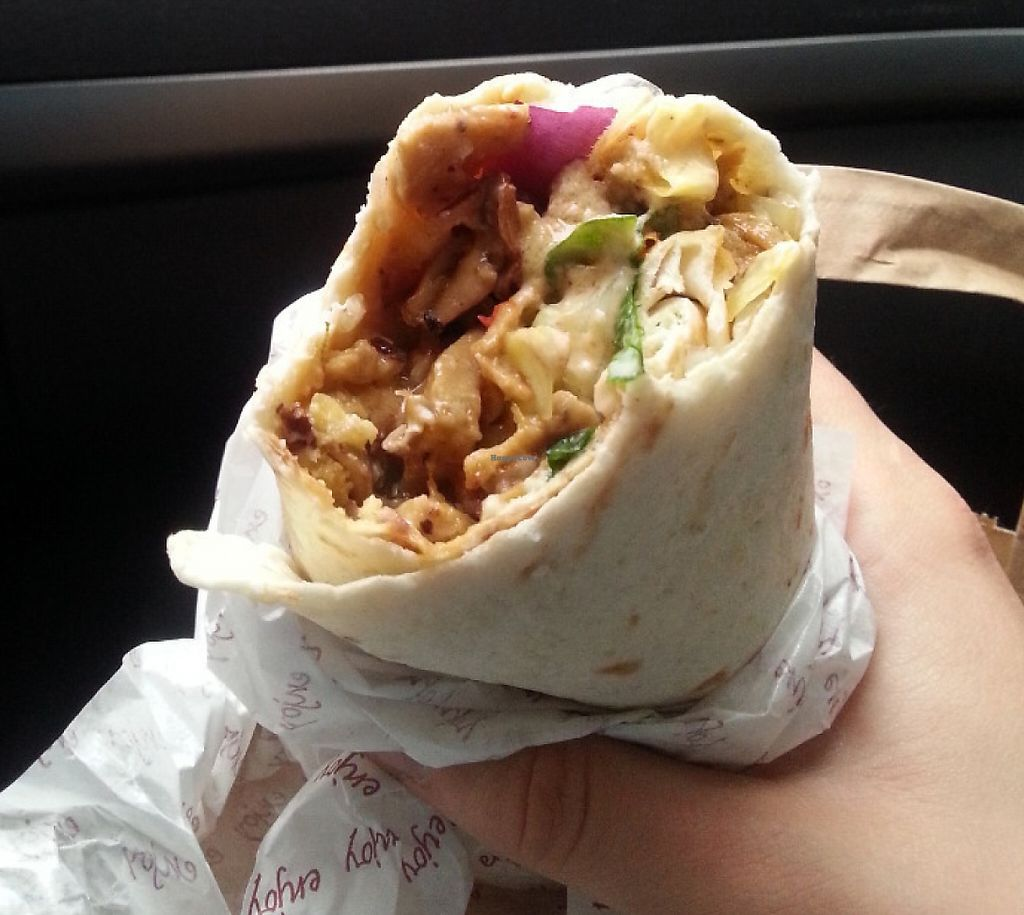 """Photo of Loving Hut - St. Hanshaugen  by <a href=""""/members/profile/veganette89"""">veganette89</a> <br/>Kebab wrap <br/> July 28, 2016  - <a href='/contact/abuse/image/46228/240561'>Report</a>"""