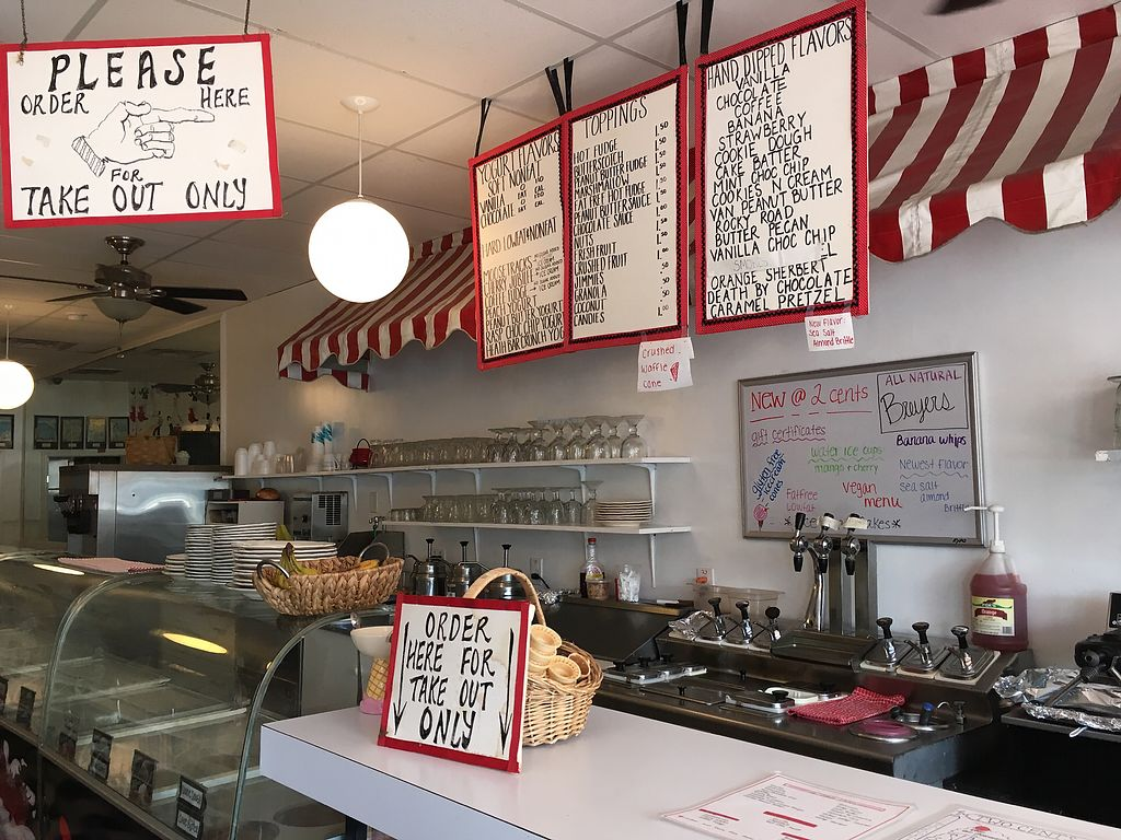 """Photo of Two Cents Plain Ice Cream Parlour  by <a href=""""/members/profile/KateShaw"""">KateShaw</a> <br/>Inside <br/> August 3, 2017  - <a href='/contact/abuse/image/46240/288321'>Report</a>"""