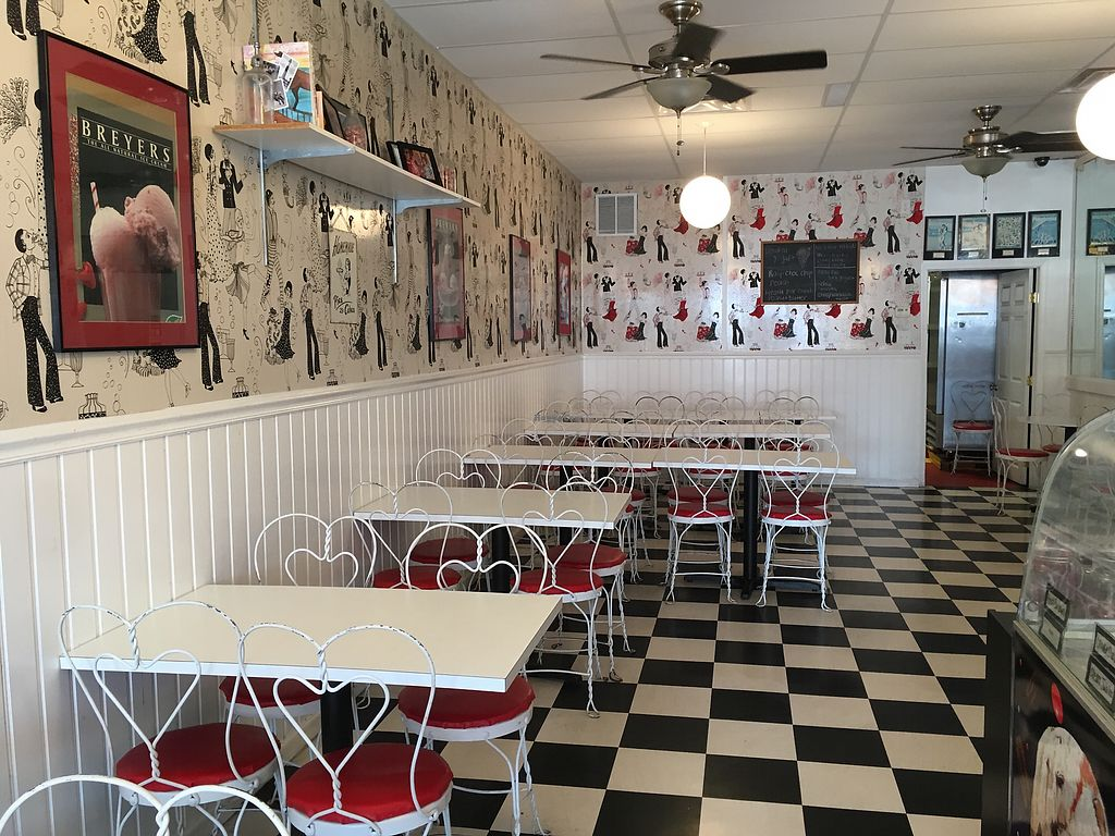 """Photo of Two Cents Plain Ice Cream Parlour  by <a href=""""/members/profile/KateShaw"""">KateShaw</a> <br/>Inside seating  <br/> August 3, 2017  - <a href='/contact/abuse/image/46240/288322'>Report</a>"""