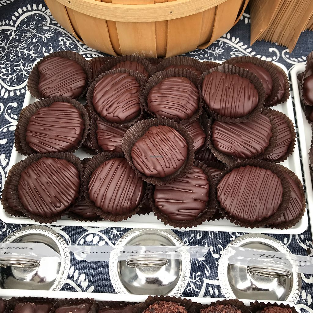 """Photo of Chequessett Chocolate  by <a href=""""/members/profile/Sarah%20P"""">Sarah P</a> <br/>Vegan peanut butter discs <br/> October 14, 2017  - <a href='/contact/abuse/image/46261/315279'>Report</a>"""